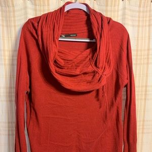 Plus size light weight cowl neck sweater